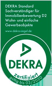 DEKRA zertifizierte Bausachverständige für Immobilienbewertung D2 (Standard Ein- und Zweifamilienhäuser) (Wohn- u. einfache gewerbliche Objekte)