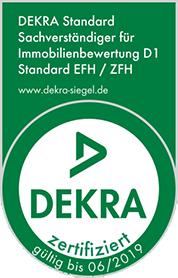 DEKRA zertifizierte Bausachverständige für Immobilienbewertung D1 (Standard Ein- und Zweifamilienhäuser)