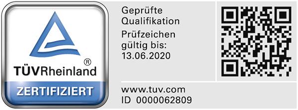 Bausachverständiger für Immobilienbewertung mit TÜV Rheinland geprüfter Sachkunde (PersCert TÜV Rheinland)