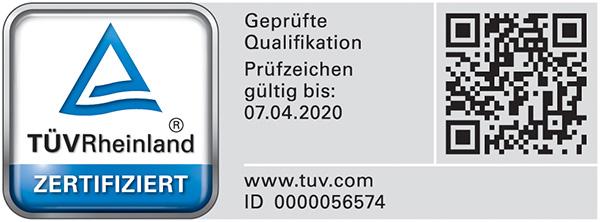 Bausachverständiger für Immobilienbewertung mit TÜV Rheinland geprüfter Qualifikation (PersCert TÜV Rheinland)