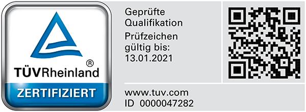 Bausachverständiger für Schäden an Gebäuden mit TÜV Rheinland geprüfter Qualifikation (PersCert TÜV Rheinland)