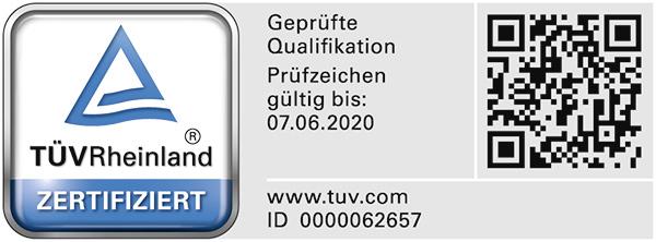 Bausachverständiger für die Bewertung von bebauten und unbebauten Grundstücken mit TÜV Rheinland geprüfter Qualifikation (PersCert TÜV Rheinland)
