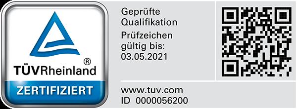 TÜV Rheinland zertifizierter Bausachverständiger und Baugutachter