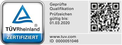 Gutachter für Immobilienbewertung mit TÜV Rheinland geprüfter Qualifikation (PersCert TÜV Rheinland)