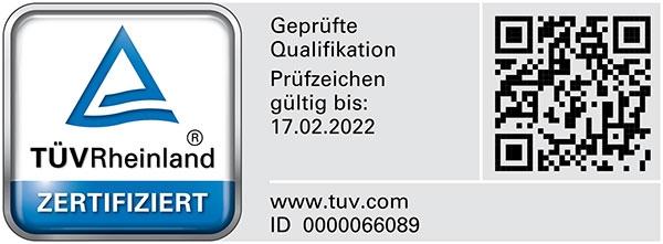 Bausachverständige für Feuchte- und Schimmelpilzschäden mit TÜV Rheinland geprüfter Qualifikation (PersCert TÜV Rheinland)