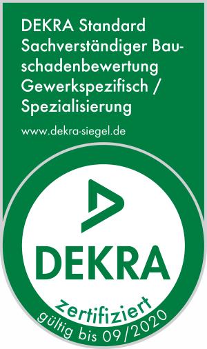 DEKRA zertifizierter Bausachverständiger für Bauschadenbewertung